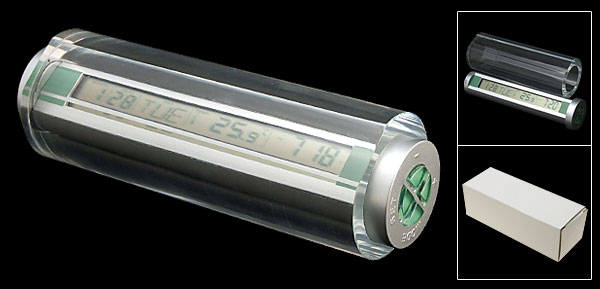 Multifunction Cylinder Alarm LCD Clock Thermometer