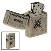 Modern Cross Design Refill Oil Flint Pocket Metal Cigarette Lighter