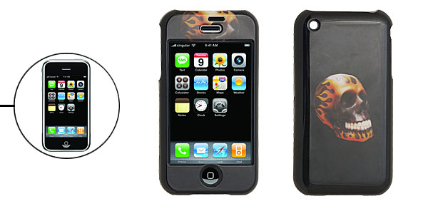 Black Skull Hard Plastic Case Cover for iPhone 1st Generation