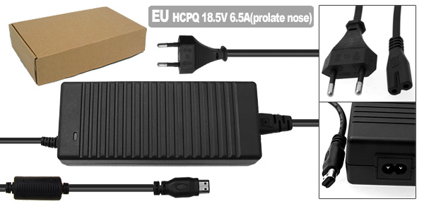EU Plug 100-240V Adapter Charger for Hp 384023-001 391174-001 608426-001 609941-001 PPP016L-E