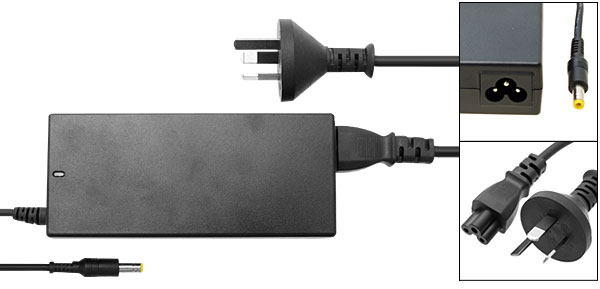 Laptop AC Adapter 18.5V 4.9A with AU Power Cord for Compaq Presario 2100 2500 ( 325112-001 )