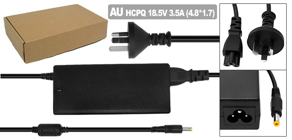 18.5V 3.5A AC Adapter with AU Power Cord for HP Pavilion ZE2000 DV4000 ( 239427-001 )