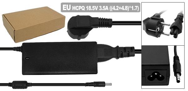 18.5V 3.5A AC Adapter with EU Power Cord for HP Pavilion DV1000 DV5000 ( 239427-003 )