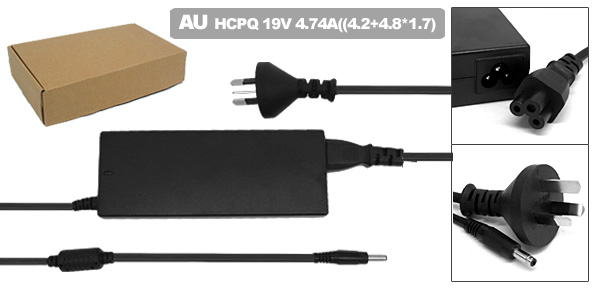 Laptop 19V 4.74A AC Adapter with AU Power Cord for HP Pavilion DV8000 DV9000 ( 394224-001 )