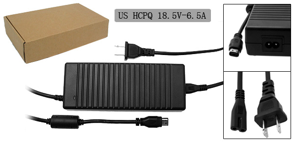18.5V 6.5A Laptop AC Adapter with US Power Cord for HP Compaq R4000 ( PPP016L PA1121-02HD )