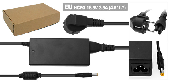 AC Adapter 18.5V 3.5A with EU Power Cord for HP Pavilion ZE2000 DV4000 ( 239427-001 )