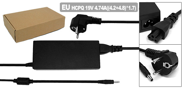 EU Plug 100-240V Adapter Charger for HP/Compaq 239705-001 394224-001 432309-001 PPP012L-S