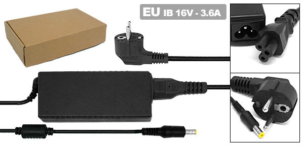 Laptop 16V 3.36A AC Adapter with EU Power Cord for IBM ThinkPad 380 600 ( 02K6496 )