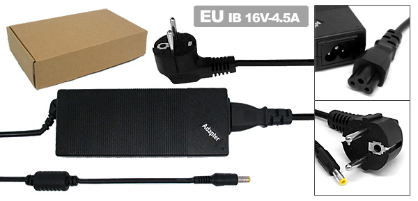 Laptop AC Adapter 16V 4.5A 72W-IB03 for IBM ThinkPad T20 T30 02K6699 02K6677