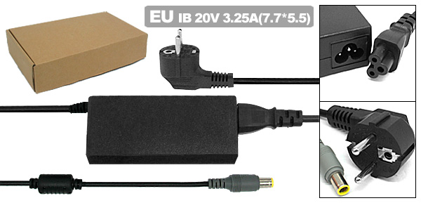 EU Plug 100-240V Adapter for IBM Lenovo ThinkPad Laptop Charger Power Supply Cord