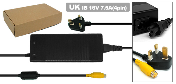 Laptop AC Adapter with UK Power Cord for IBM ThinkPad G40 G41 ( 02K7085 02K7086 )