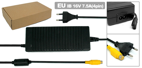 EU Plug 100-240V to 16V Laptop AC Adapter for IBM ThinkPad G40 G41 ( 02K7093 PA-1121-061 )