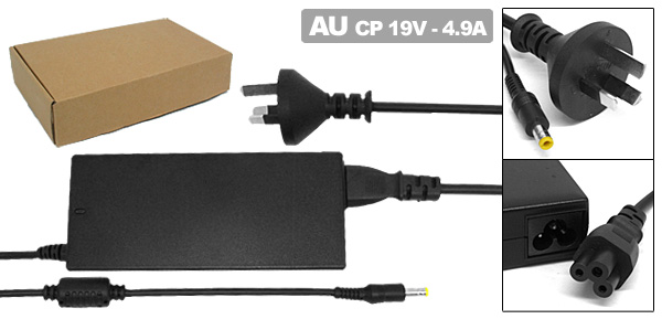 Laptop 19V 4.9A AC Adapter with AU Power Cord for HP Pavilion ZE4100 ZE4200 ( 324816-001 )