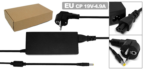 EU Plug Power Cord Laptop Adapter AC 100-240V 1.5A for HP Pavilion
