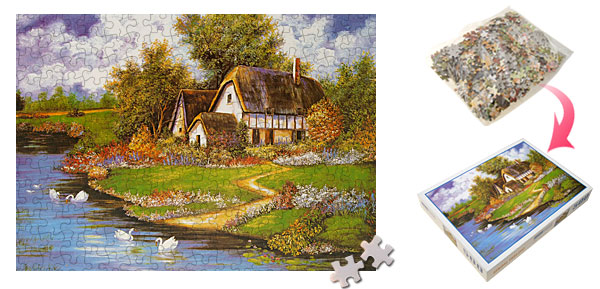 Toys 500 Pieces Spring Small House Swan Picture Jigsaw Puzzle