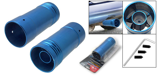 Universal Car Auto Blue Alloy Aluminum Muffler Tip(XB-681)