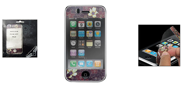 Flower Film Sticker Screen Protector Guard for Apple iPhone 3G