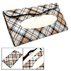 Plaid Pattern Sun Visor Leather Tissue Holder Cover with Clip