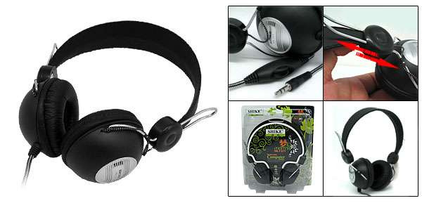 Multimedia Black PC Computer Stereo Headphone Headset (SK-731V)