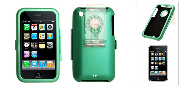 Green Protective Aluminium Skin Case Cover for Apple iPhone 3G