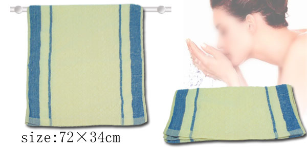 Cotton Hand Face Bath Washcloth Towel Milk White and Blue
