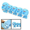 Cute Whale Family Bathroom Toothbrush Holder with Suction Cup