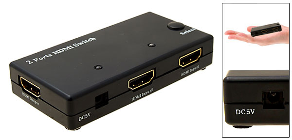 HDMI V1.3 Selector Amplifier Switch Switcher 2 Port