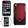 Crimson and Black Hard Case for Apple iPhone 3G
