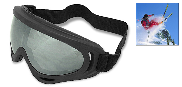 Fashion Ski Snowboard Skate Sports Glasses Goggles Black Frame