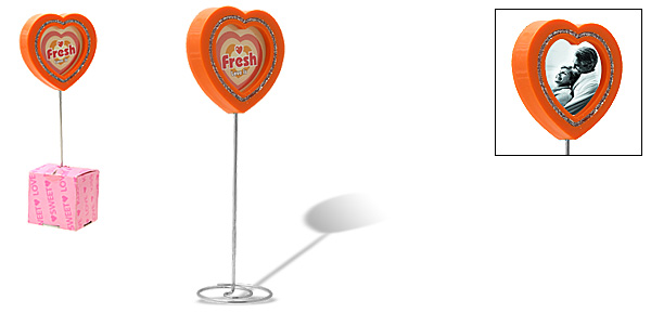 Orange Love Heart Lollipop Design Photo Frame