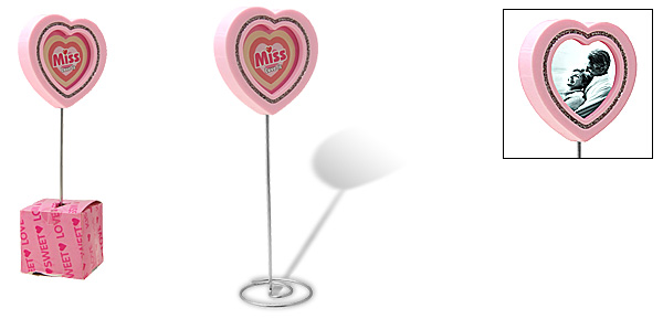 Pink Love Heart Lollipop Design Photo Frame