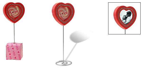 Red Love Heart Lollipop Design Photo Frame