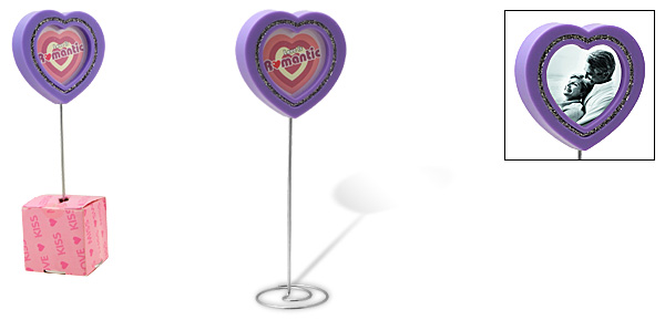 Purple Love Heart Lollipop Design Photo Frame
