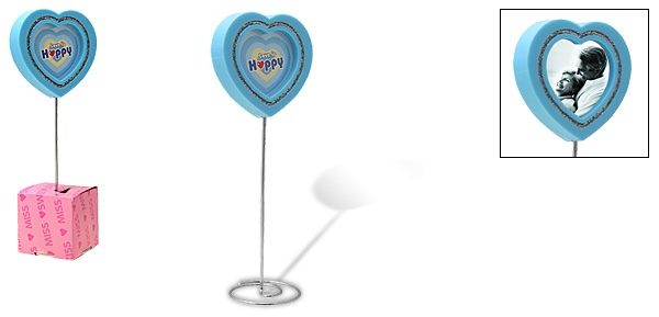 Sky Blue Love Heart Lollipop Design Photo Frame