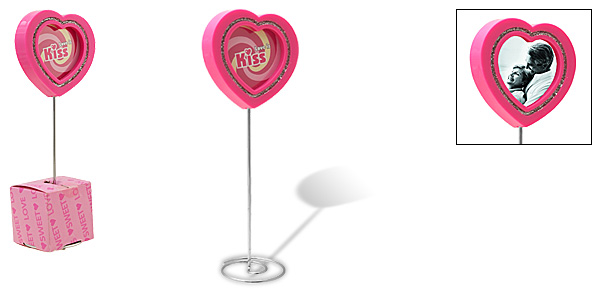 Hot Pink Love Heart Lollipop Design Photo Frame