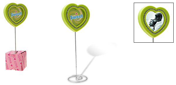 Green Love Heart Lollipop Design Photo Frame