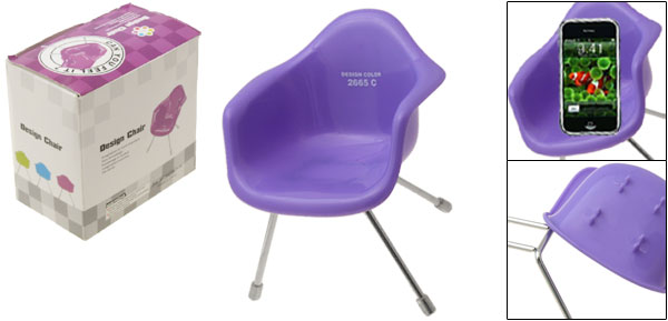 Purple Chair Style Stand Holder for MP3 Mp4 Cell Phone