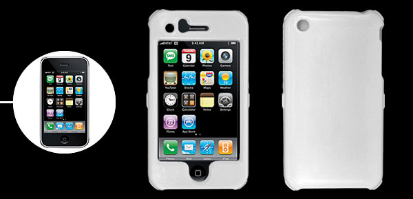 Protective White Plastic Case Cover for Apple iPhone 3G