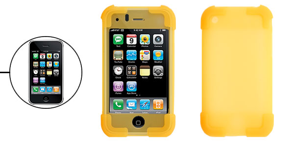 Yellow Silicone Skin Protector Case Cover for Apple iPhone 3G