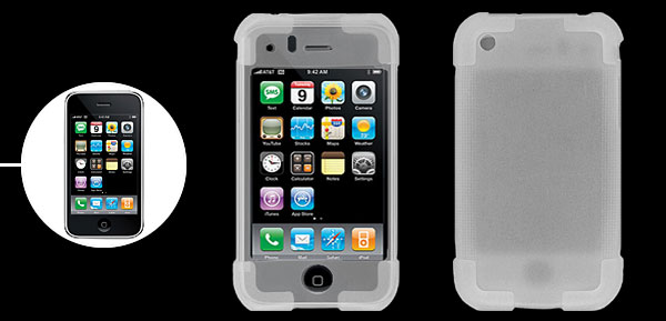 White Silicone Case for Apple iPhone 3G