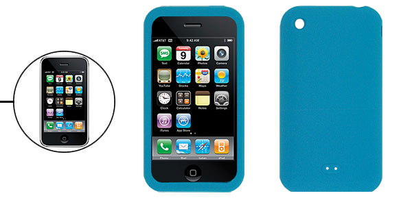 Blue Silicone Case for Apple iPhone 3G