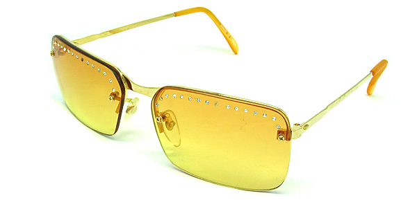 De Luxe Aviator Yellow Fashion Eyewear Night Vision Sunglasses