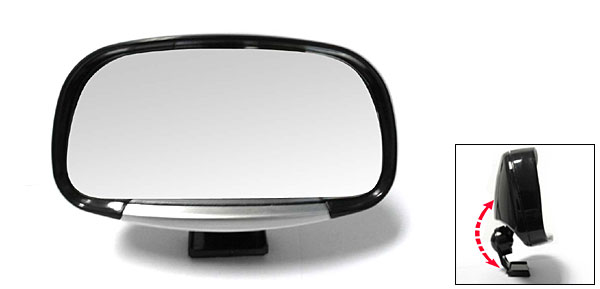 Black Revolving Wide Angle Convex Car Rear View Blind Spot Mirror (3R-081)