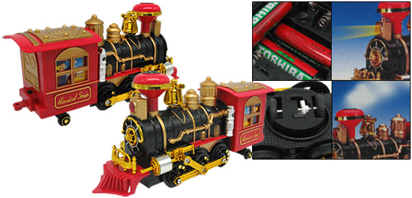 Red Classic Electronic Train Locomotive Toy with Fragrance Puffing Smoke