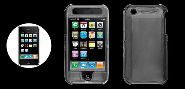 Clear Hard Case for Apple iPhone 3G