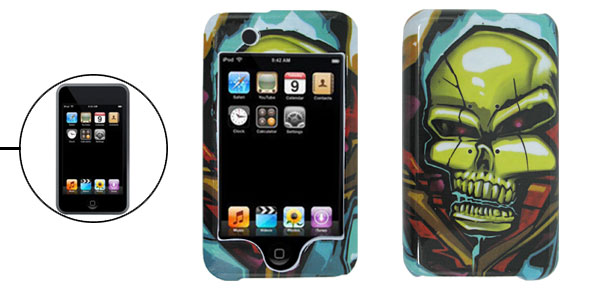 Hard Plastic Case with Colorful Skull Pattern for iPod Touch 1st Generation