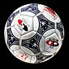 White Leather Soccer Ball Football with Blue Pattern Official Siz...
