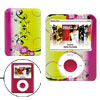 Hard Plastic Case Flower Design for iPod Nano 3G Yellow and Purple Pink