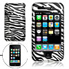Black and Silver Zebra Design Hard Plastic Case for Apple iPhone ...