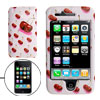 White Hard Plastic Case with Cherry Design for Apple iPhone 3G
